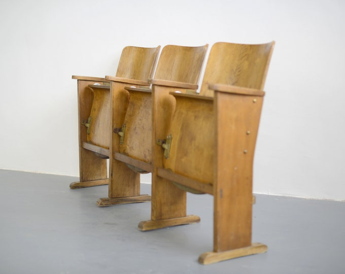 Belgian Cinema Seats Circa 1940s