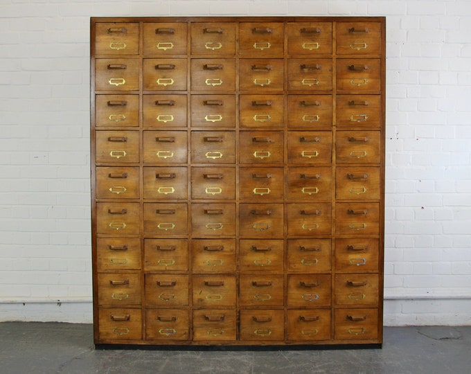 Large Bank Of French Haberdashery Drawers Circa 1940s