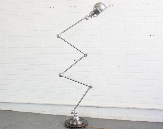 Floor Standing Industrial Lamp By Jean Louis Domecq Circa 1950s