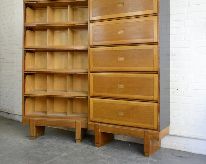 Oak Filing Cabinets By Staverton Circa 1960s