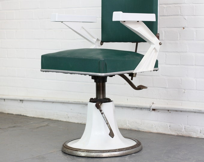 Art Deco French Dentists Chair Circa 1930s