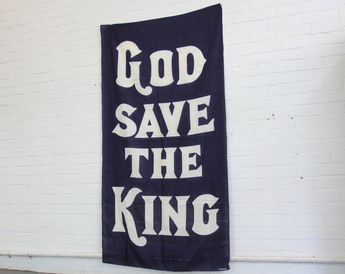 Large God Save The King Banner Circa 1936