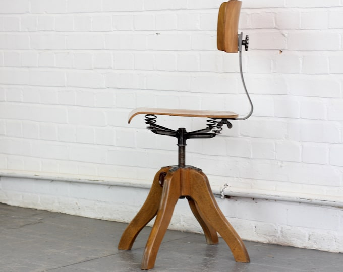 Ergonomic Industrial Chair By Anatomie Circa 1930s