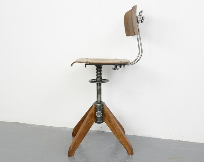 Industrial Factory Chair By Rowac Bemefa Circa 1940s