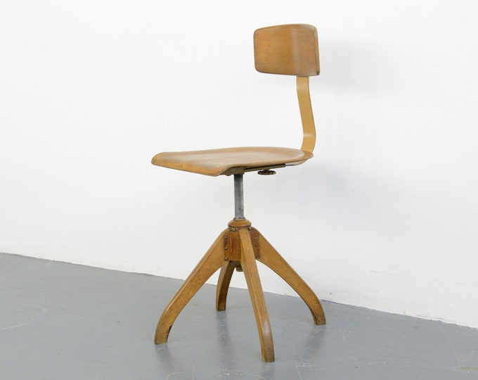 Ama Elastik Factory Chair Circa 1930s