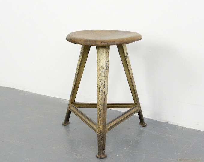 Industrial Factory Stool By Rowac Circa 1920s