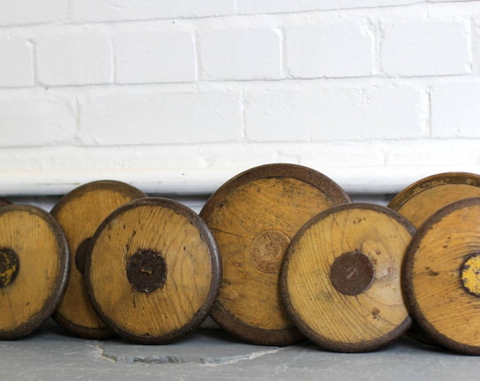 A Collection Of Wooden Discuses Circa 1930s
