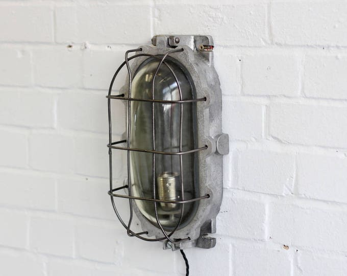 Large Industrial Explosion Proof Mine Light Circa 1940s