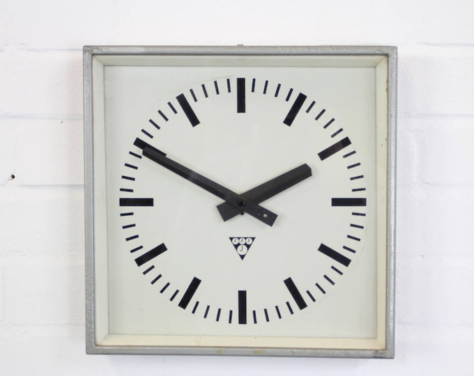 Mid Century Factory Clocks By Pragotron Circa 1960's