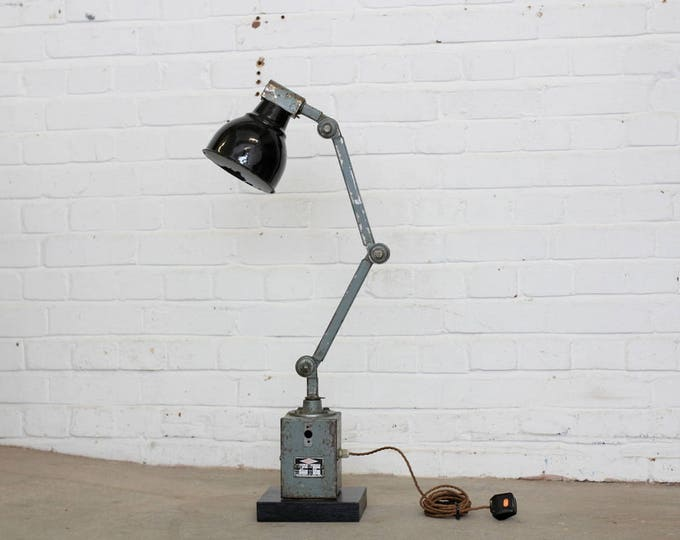 Vintage Industrial Machinists Lamp Circa 1950's