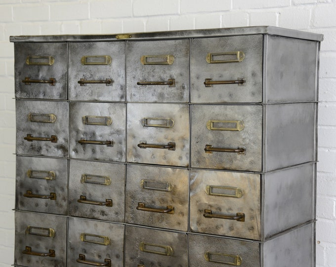 Early Strafor Industrial Drawer Cabinet Circa 1920