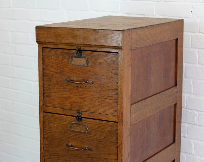 English Oak Filing Drawers Circa 1930s