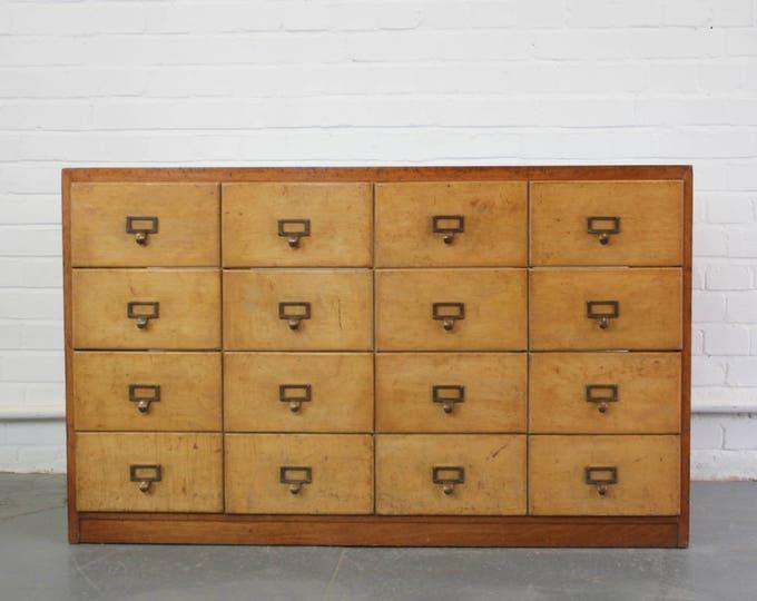 Bank Of Wooden Haberdashery Drawers Circa 1930s