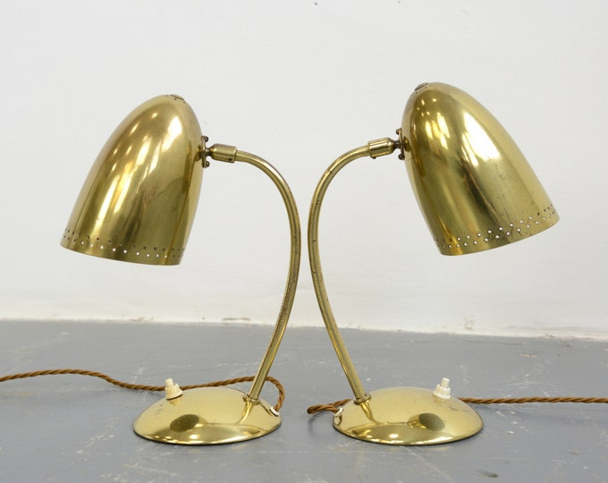 Model 4007 Table Lamps By Christian Dell For Kaiser Idell Circa 1930s
