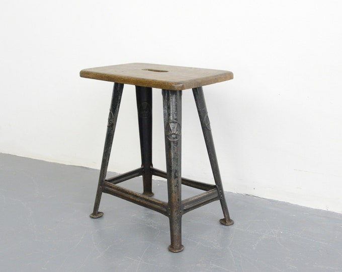 Industrial Factory Stool By Rowac Circa 1930s