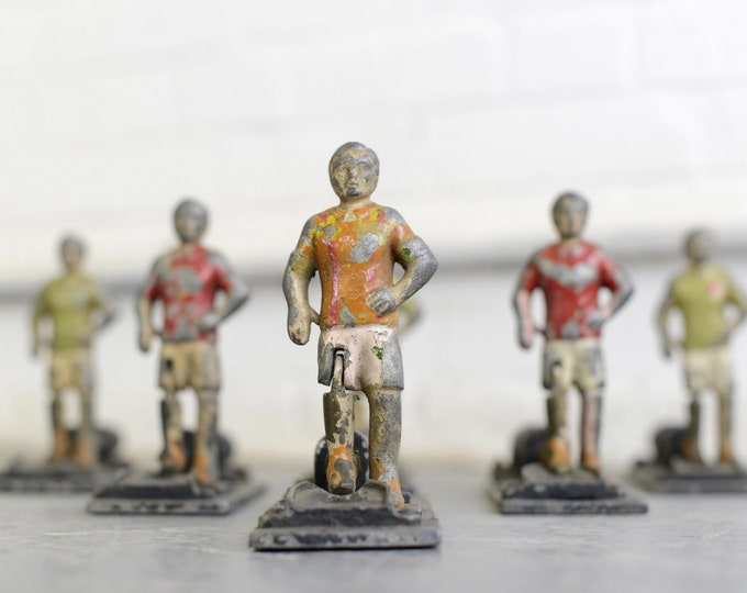 Early 20th Century Cast Iron Amusement Arcade Footballers