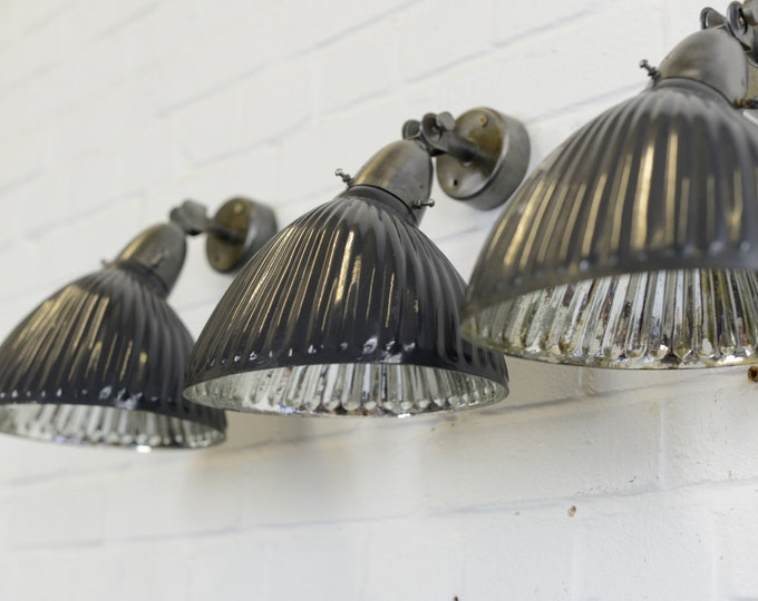 Dark Navy Mercury Glass Wall Lights Circa 1930s
