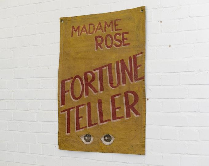 Canvas Fortune Teller Sideshow Banner Circa 1950s