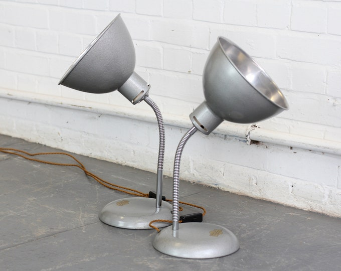A Pair Of Medical Lamps By Stephen Glover Circa 1940s