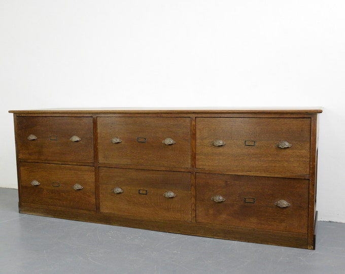 Early 20th Century Oak Shop Drawers