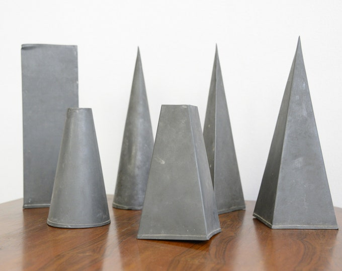 Zinc Modernist Artists Forms Circa 1930s