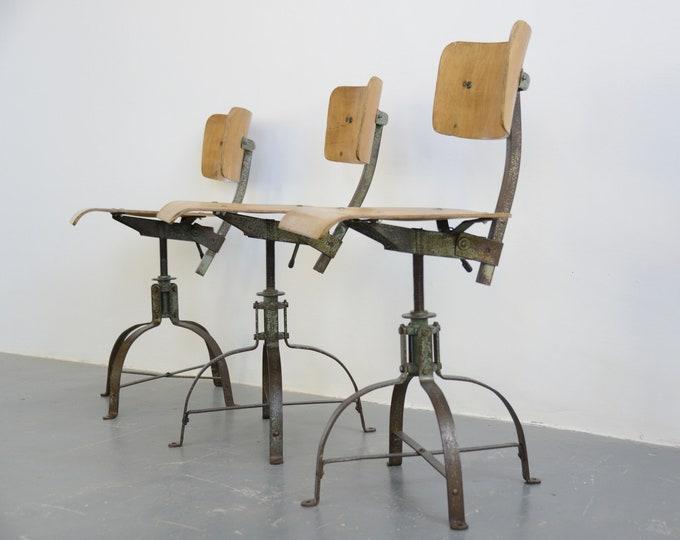 Biennaise Industrial Chairs Circa 1940s