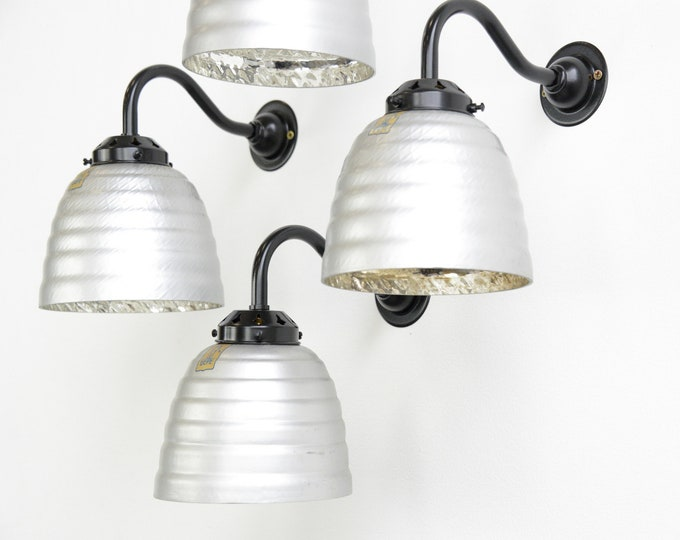 Wall Mounted Mercury Glass Lights By Gepe Circa 1930s