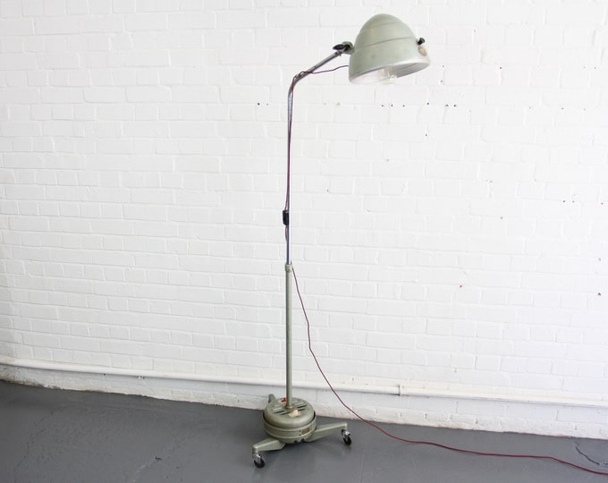 Floor Standing Medical Lamp By Hanovia Circa 1950s