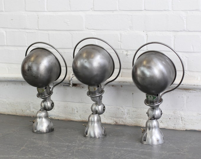 Wall Mounted Industrial Lights By Jielde Circa 1950s