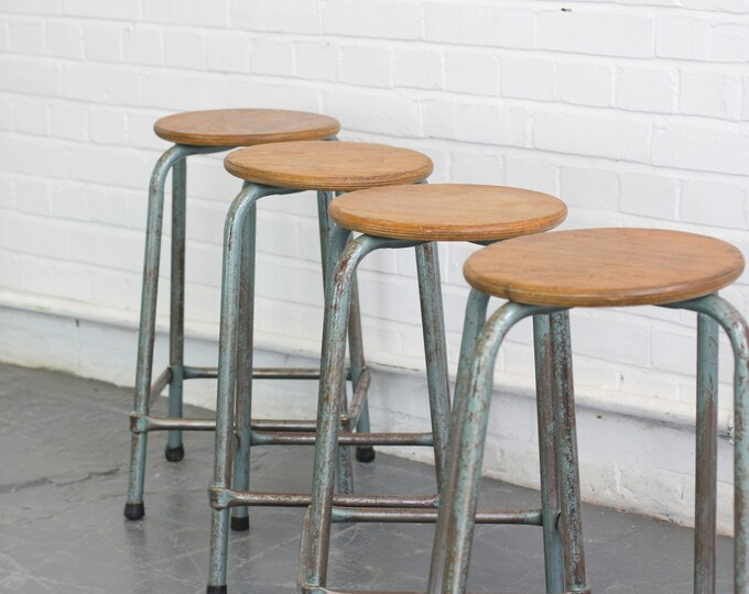 Industrial Stacking Factory Stools Circa 1950s