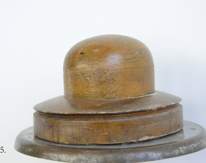 Wooden Factory Hat Forms Circa 1930s