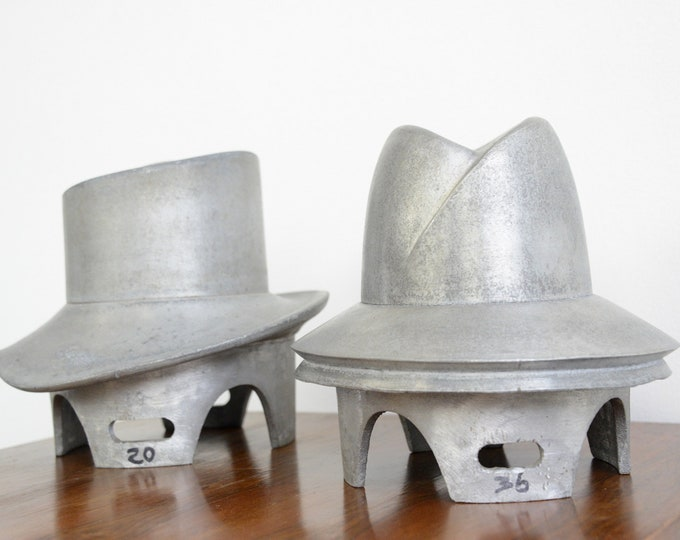 Cast Aluminium Hat Forms Circa 1930s