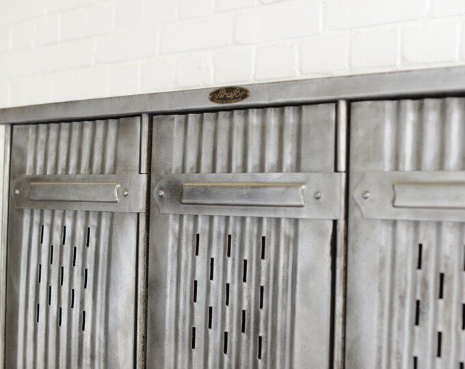 Industrial Factory Lockers By Strafor Circa 1920s