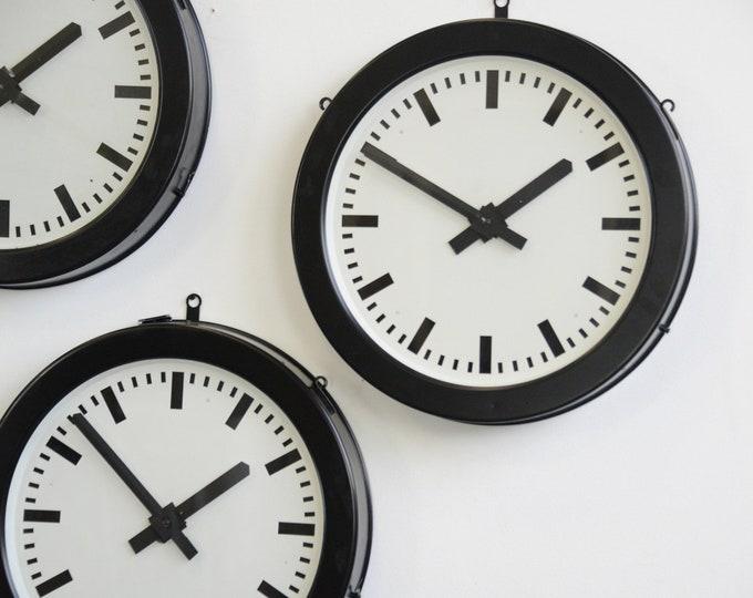 Large Factory Clocks By Bohmeyer Circa 1940s