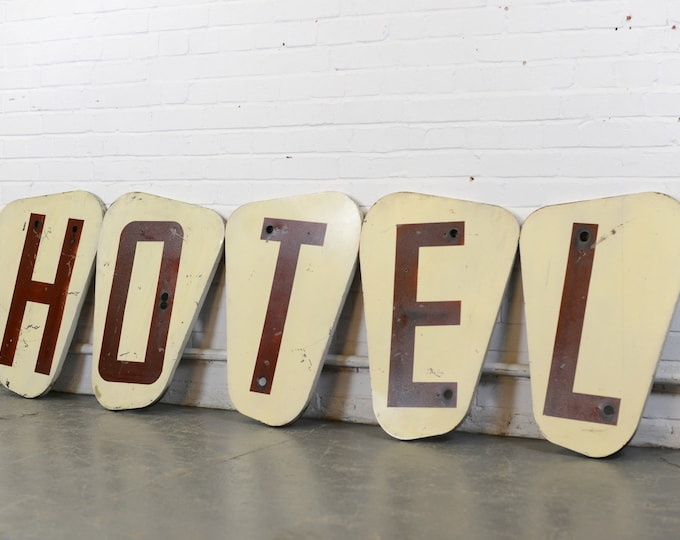 Large Hotel Signs Circa 1950s