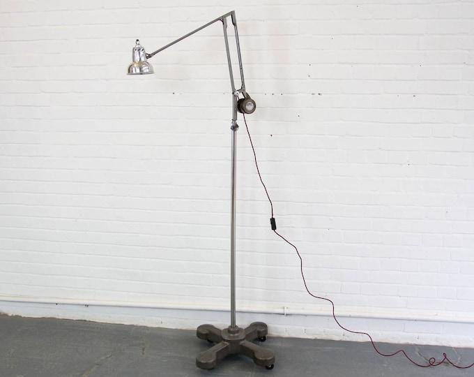 Floor Standing Draftsman's Lamp By Admel Circa 1940s
