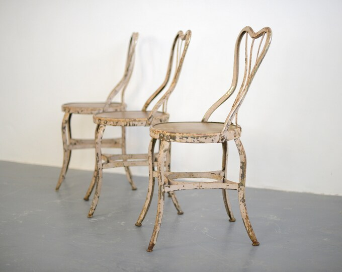 American Ice Cream Parlour Chairs By Toledo 1930s