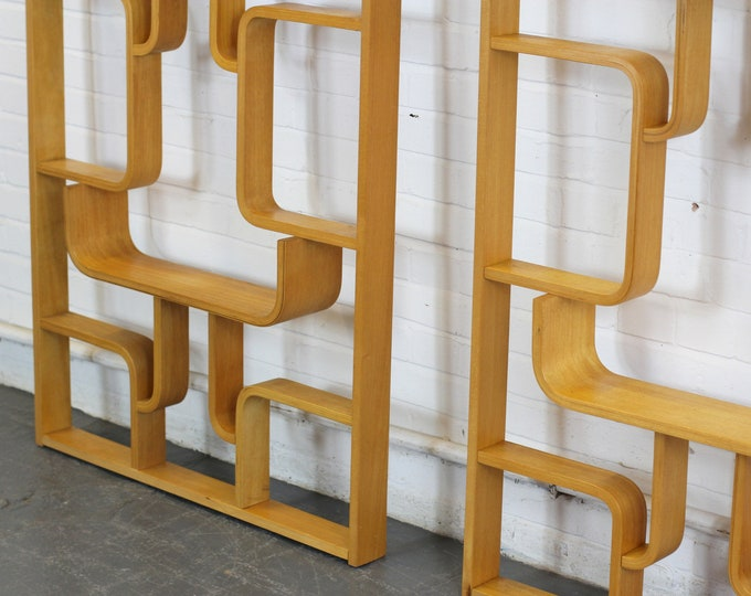Mid Century Room Divider Shelves By Ludvik Volak Circa 1960s