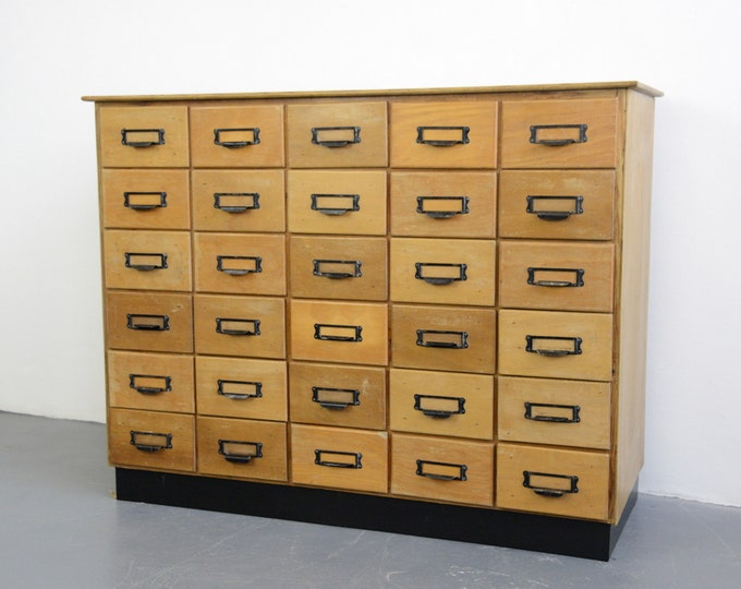 Oak Filing Drawers Circa 1950s