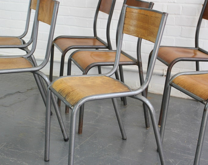 French Stacking Chairs By Mulca Circa 1950s