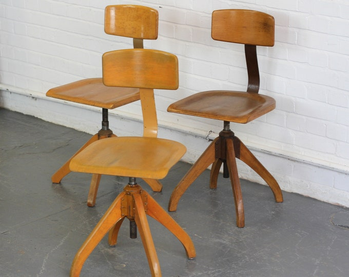 Machinists Chairs By Ama Elastik Circa 1930s