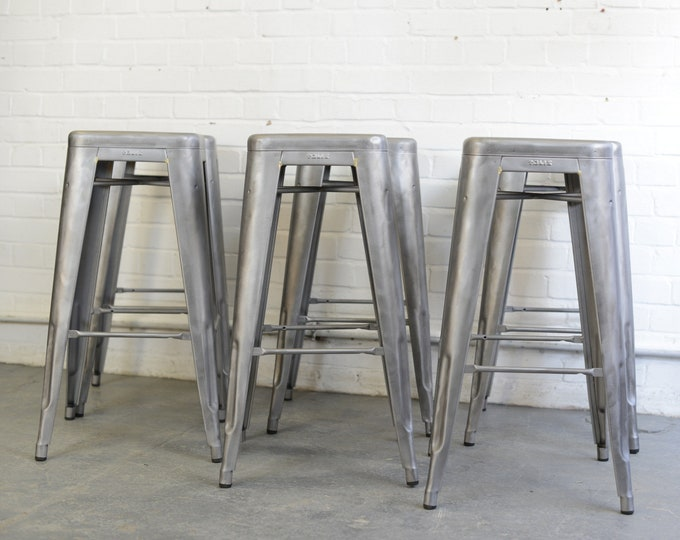 Stacking Bar Stools By Tolix Circa 1950s