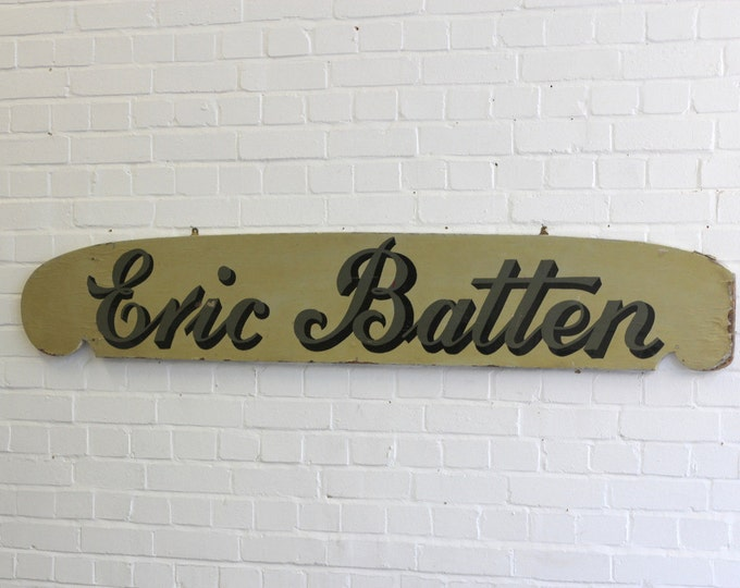 Early 20th English Hand Painted Trade Shop Sign