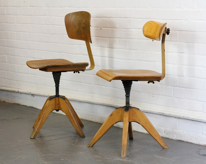 Mid Century Machinists Chairs By Bombenstabil Circa 1950s