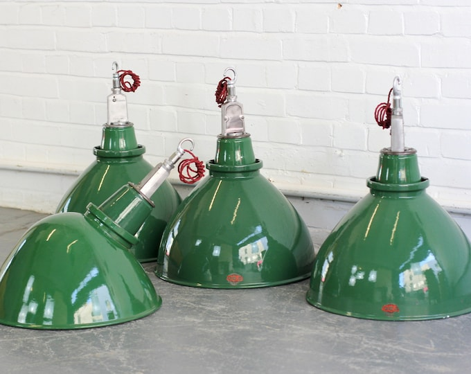 Large Industrial Factory Lights By Thorlux Circa 1950s