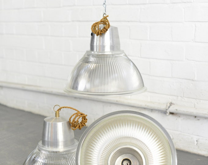 Industrial Holophane Lights Circa 1950s