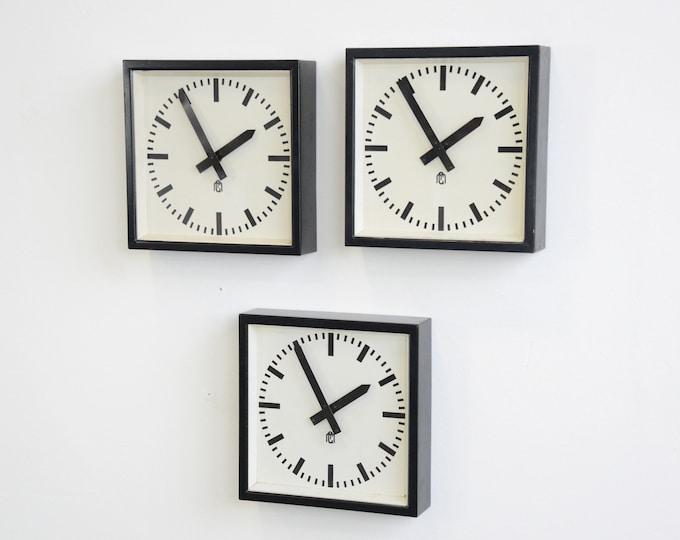 Square Textile Factory Clocks Circa 1950s