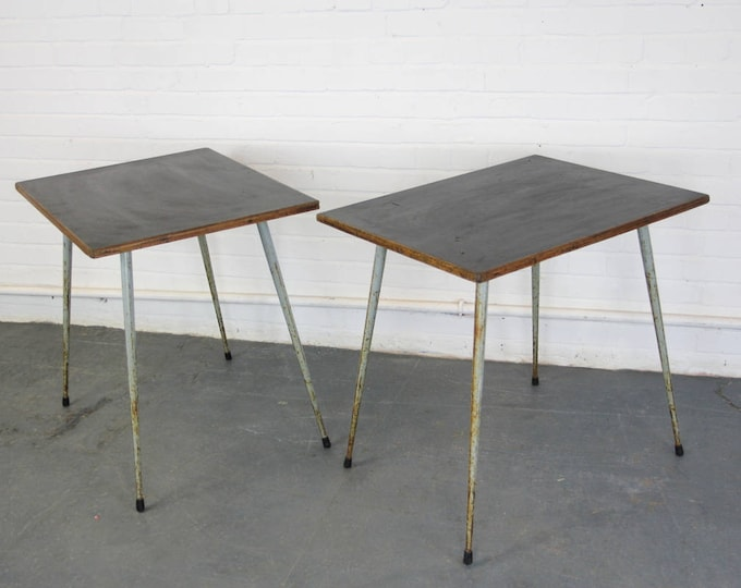 Mid Century Atomic Style Cafe Tables Circa 1950s
