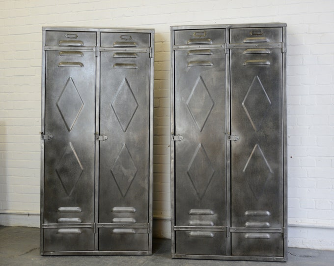 Belgian Industrial Factory Lockers Circa 1930s