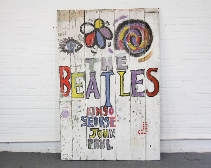 The Beatles Magical Mystery Tour Fan Art Sign Circa 1967